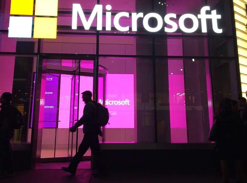 微軟在「352」政策通過後可能首當其衝。(AP)