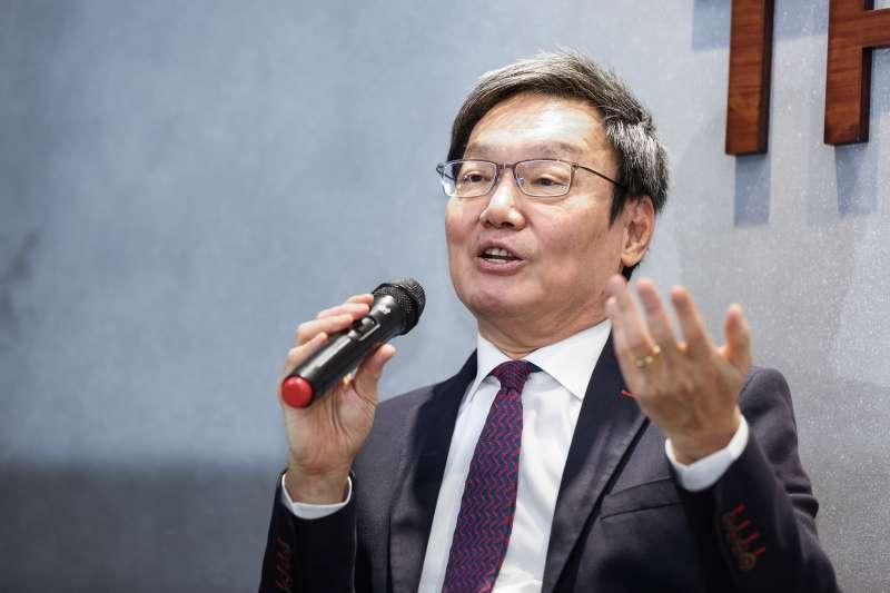 20191211-前國安會秘書長蘇起新書茶敘「台灣的三角習題:從美中台到紅藍綠,台灣前途的再思考」。(簡必丞攝)