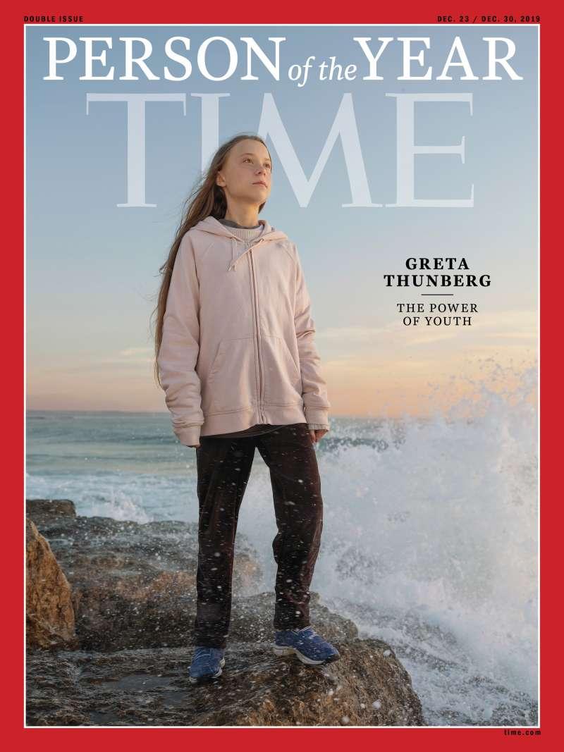 美國《時代》雜誌11日揭曉2019年度風雲人物,瑞典少女氣候鬥士通貝里(Greta Thunberg)獲殊榮(AP)