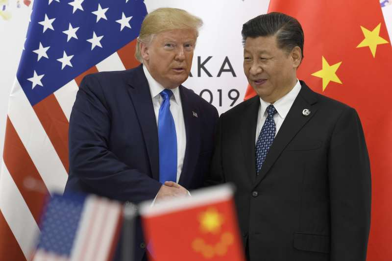 中美貿易戰,川普與習近平(AP)