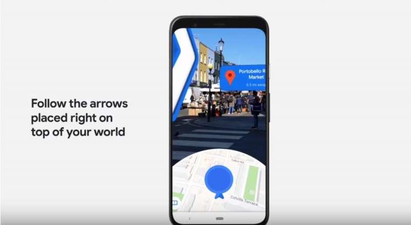 20191216Google Maps日前推出AR導航功能Live View (取自Google官網)
