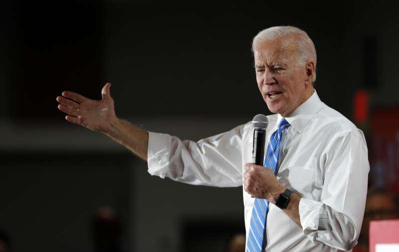 美國2020年總統大選、民主黨參選人拜登。(AP)