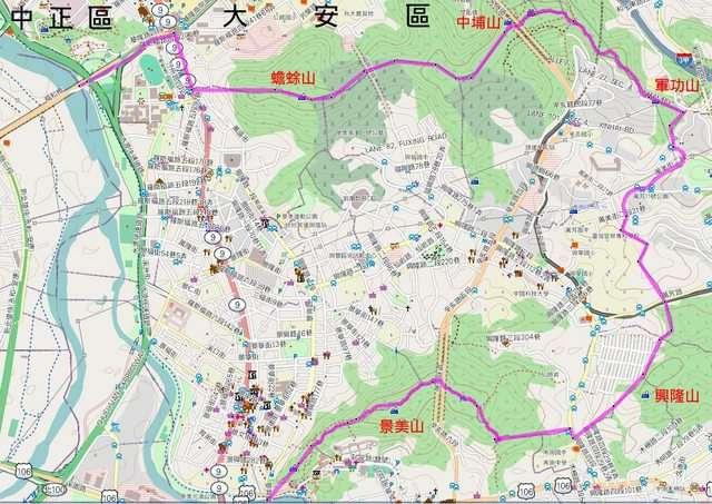 景美以蟾蜍山與台北市中心為鄰,東則以景美山與木柵為界。(圖/取自網路)