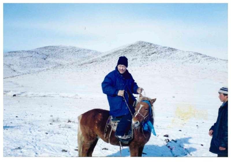 我的第一匹馬。(作者海中雄提供)