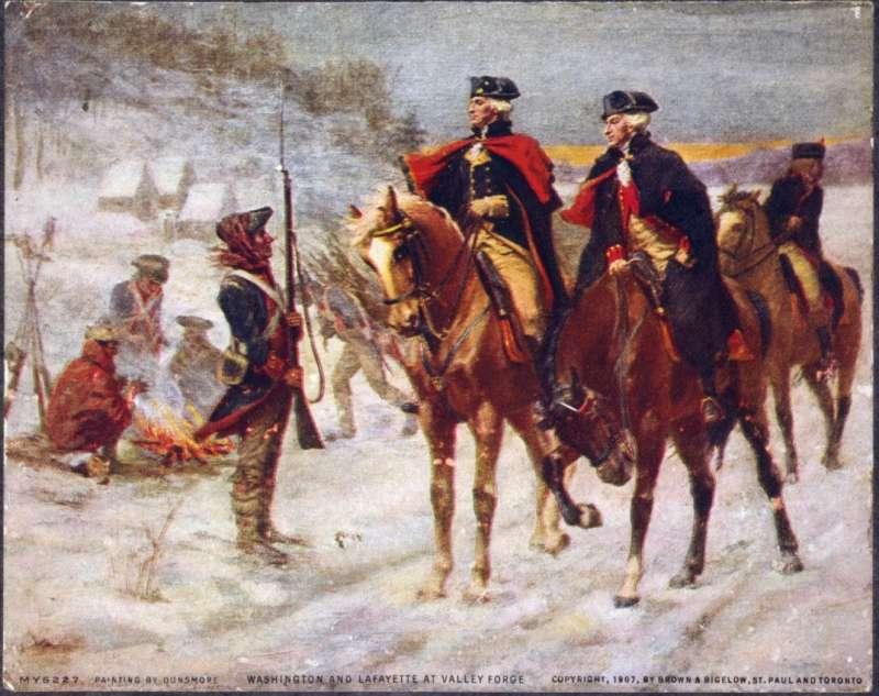 拉法葉協助華盛頓打獨立戰爭的事實,讓法國人認為美國一戰與二戰守護法國只是償還歷史債務。(作者許劍虹提供)