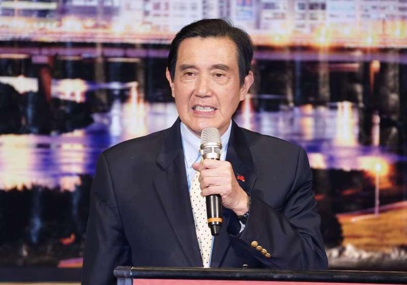 20191219-前總統馬英九19日出席內科之夜歲末聯歡晚會。(盧逸峰攝)