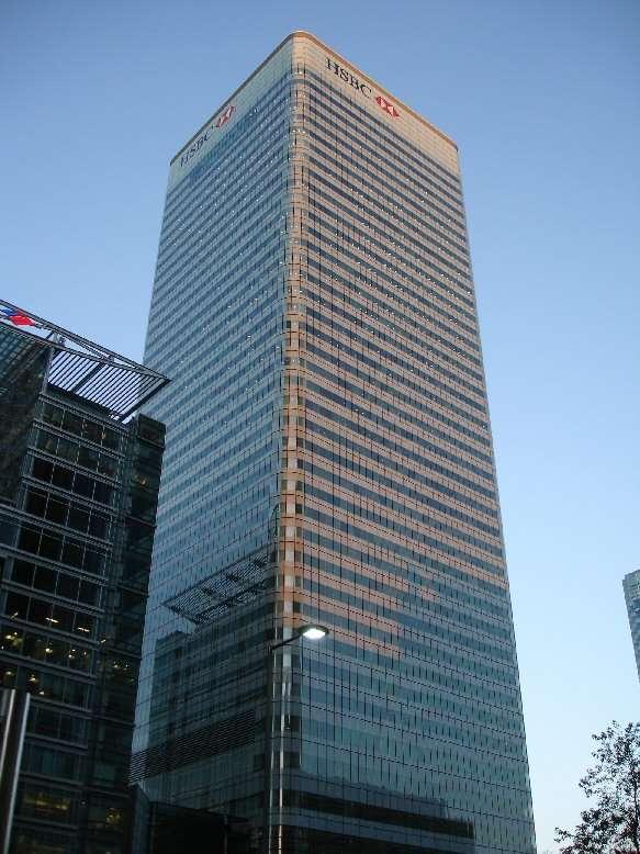 20191220-匯豐銀行。圖為滙豐集團及英國滙豐的總部倫敦滙豐大廈。(資料照,取自維基百科)