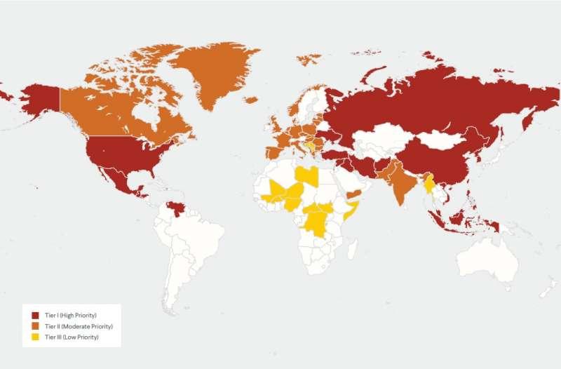美國最有影響力的外交政策智庫「外交關係協會」18日發布最新報告,評估全球2020年潛在衝突的發生機率,以及衝擊美國利益的程度。(截自外交關係協會)