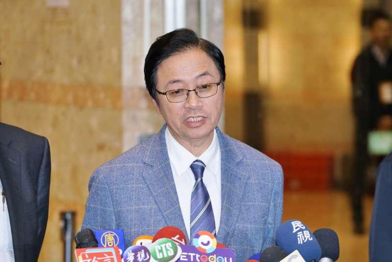 20191220-國民黨副總統參選人張善政20日出席電視政見辯論會。(盧逸峰攝)