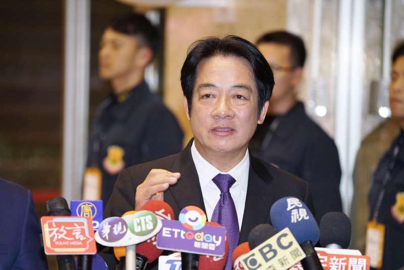 20191220-民進黨副總統參選人賴清德20日出席電視政見辯論會。(盧逸峰攝)