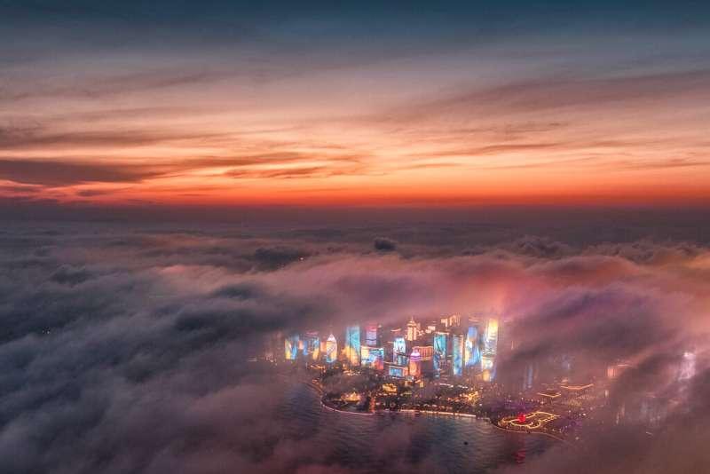 中國經濟、山東青島。(美聯社)