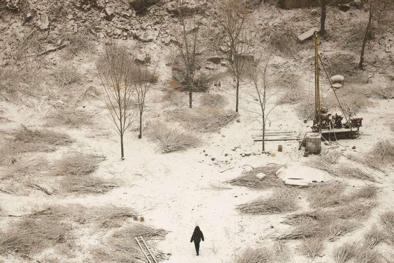 北京冬日,下雪,雪景。(美聯社)