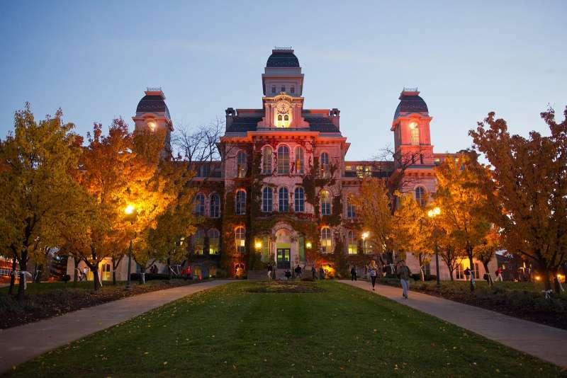 美國雪城大學校園。(取自雪城大學官網)