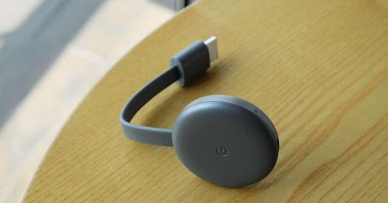 Google Chromecast媒體串流播放器。(Aaron Yoo@flickr)