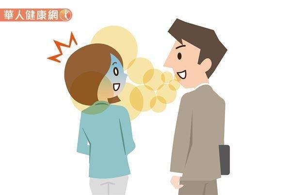 口臭本身並不算一種疾病,但值得注意的是,口臭不僅會影響到社交,還可能是某些疾病的表徵,包括:牙周病、鼻腔感染,甚至是相對嚴重的肝硬化、尿毒症等,都有可能會使口腔散發難聞氣味。(圖/華人健康網)