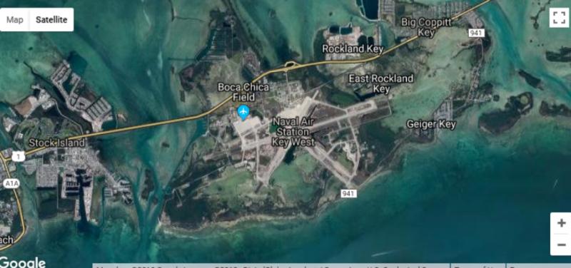 美國西島海軍航空站。(翻攝自Google Map)