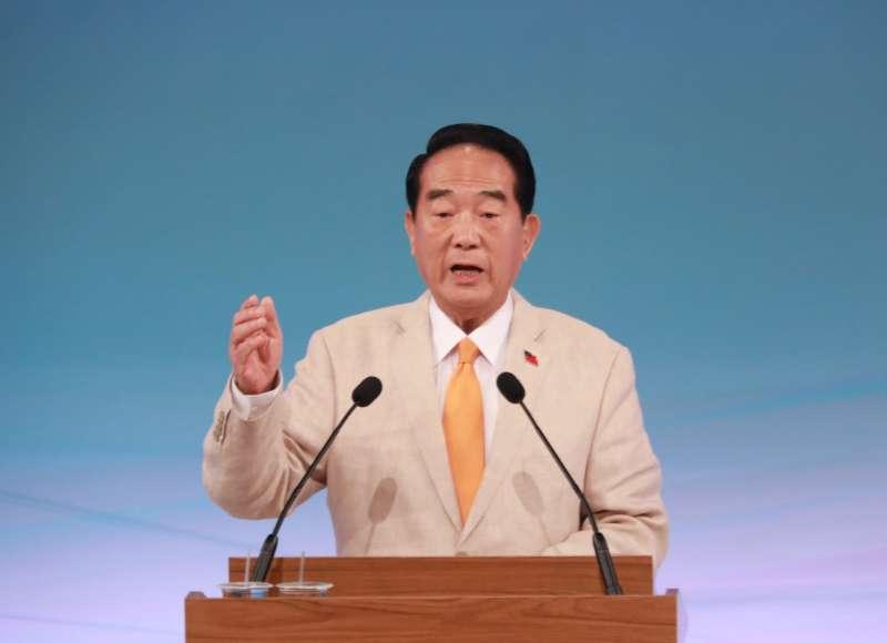 20191229-總統大選唯一1場電視辯論會29日下午登場。圖為親民黨總統候選人宋楚瑜。(台北市攝影記者聯誼會提供)