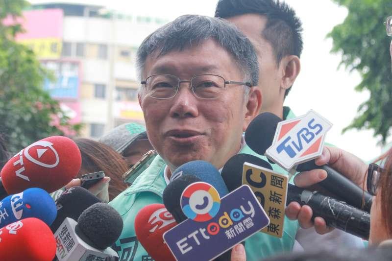 20191229-台灣民眾黨主席、台北市長柯文哲29日在高雄進行車隊掃街。(方炳超攝)