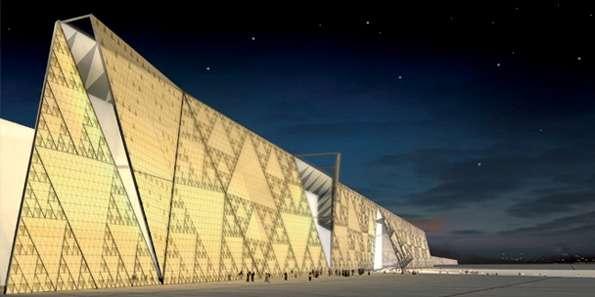 大埃及博物館園區內一景(圖/Grand Egyptian Museum facebook)