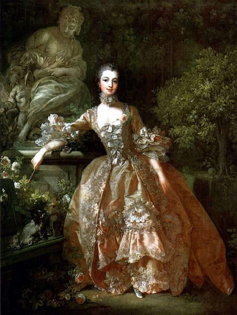 02 《龐巴度夫人Madame de Pompadour》François Boucher,1759年,收藏於英國華萊士收藏館。(圖/瘋設計)