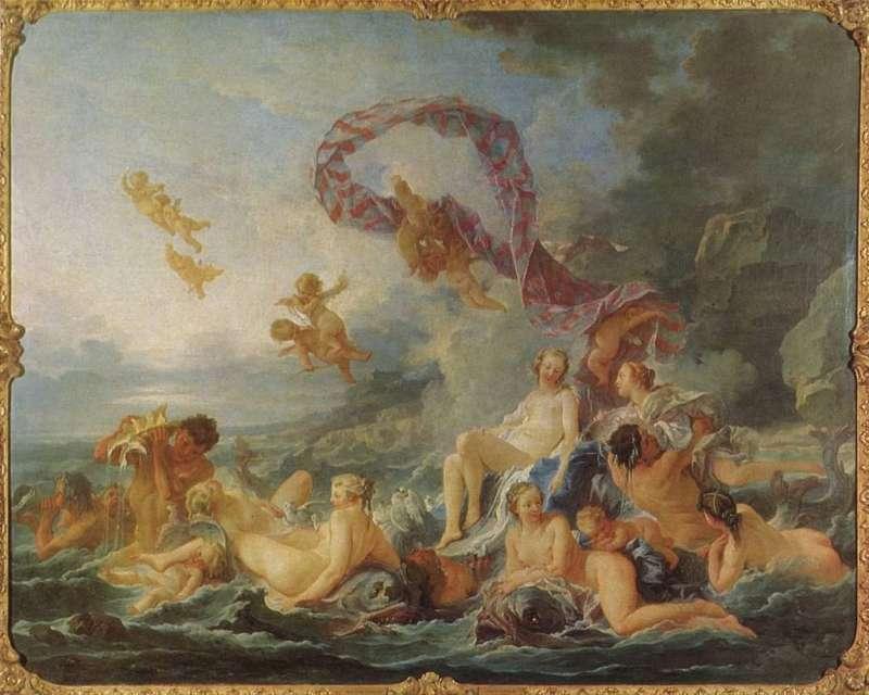 04 《維納斯的誕生The Birth of Venus》François Boucher,1740年,收藏於瑞典國立博物館。(圖/瘋設計)