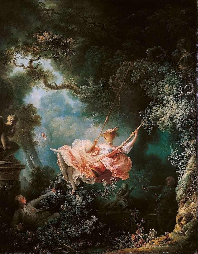 05 《 鞦韆 The Swing》Jean-HonoréFragonard,1767年。(圖/Wikimedia Commons。)