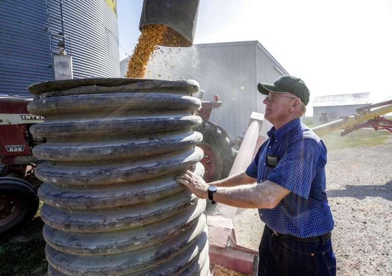 中美貿易戰,美國大豆,美國內布拉斯加的農民正在種植黃豆。(美聯社)