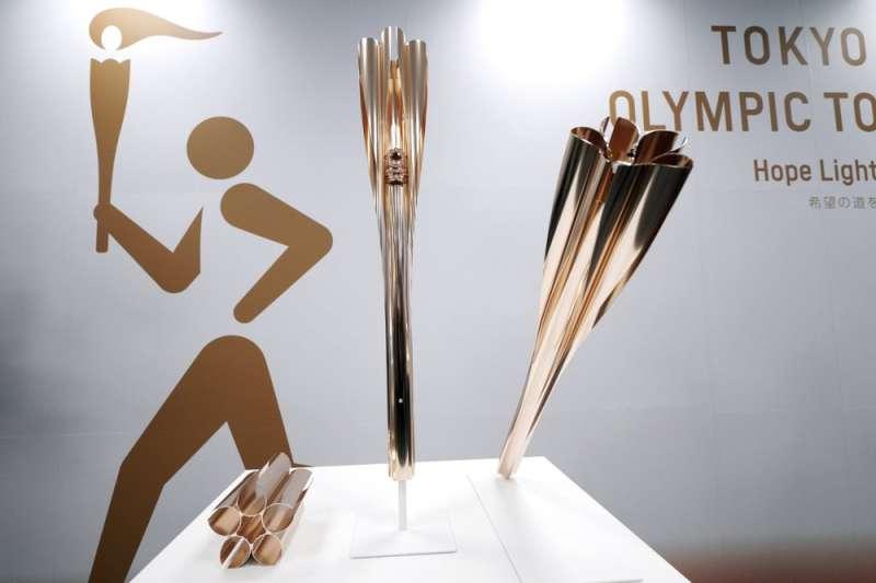 2020年東京奧運聖火火炬。(AP)