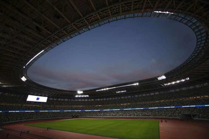 2020年東京奧運主場館「新國立競技場」。(AP)