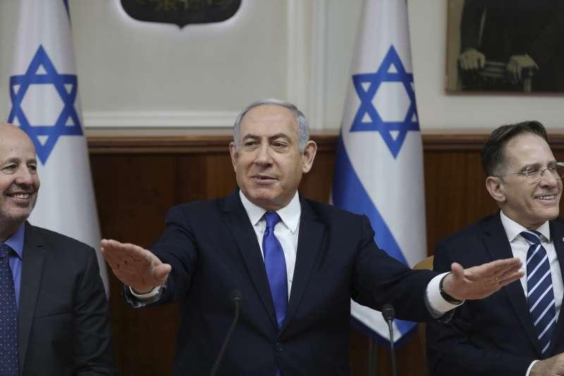 2020年1月1日,被賄賂、貪汙等罪起訴的以色列總理納坦雅胡,向國會尋求議員豁免權。(AP)