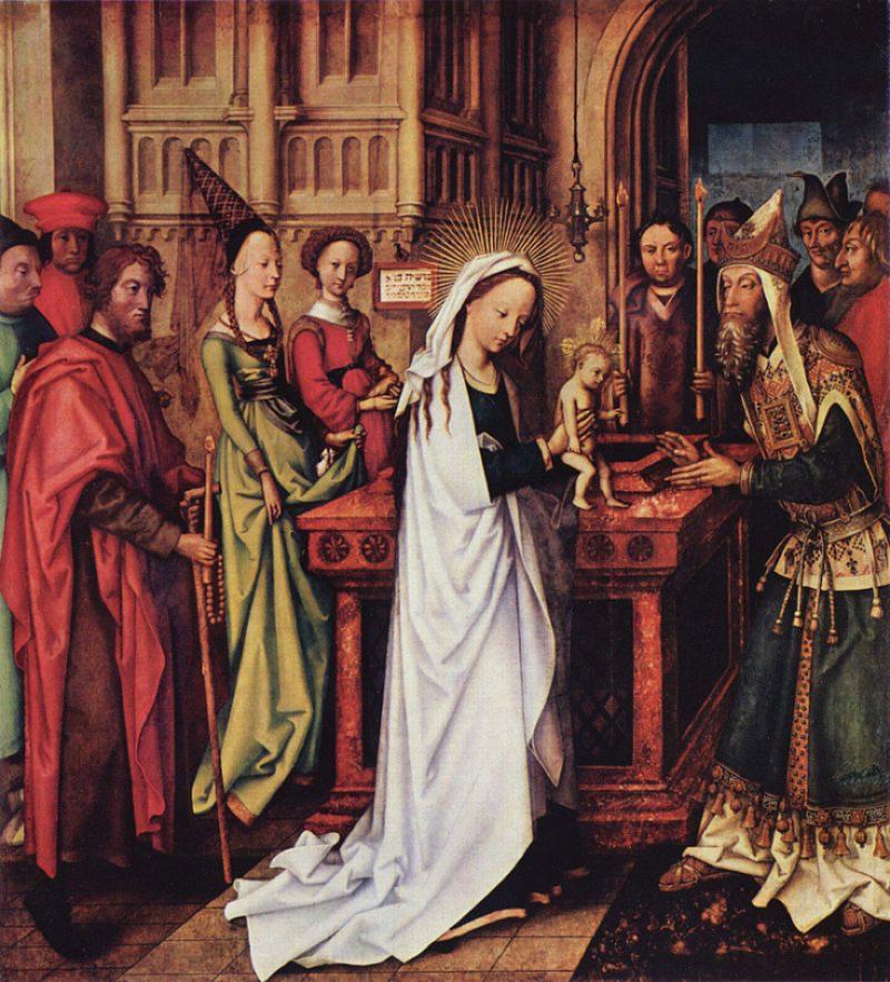20200103-老漢斯·霍爾拜恩(Hans Holbein the Elder,1460-1524)作品《獻主節》(Darstellung Christi im Tempel)。(作者提供)