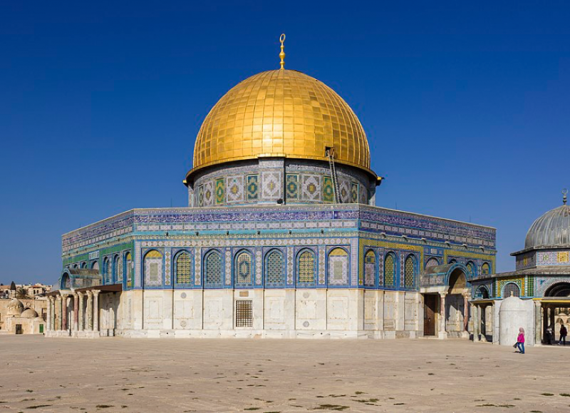 20200103-圓頂清真寺(阿拉伯語:قبة الصخرة,希伯來語:כיפתהסלע)。(作者提供)