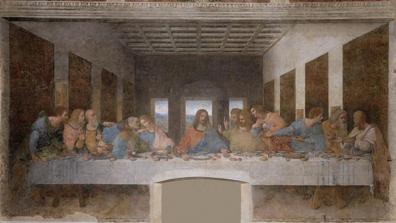 20200103-達芬奇(Leonardo da Vinci)《最後的晚餐》。(作者提供)