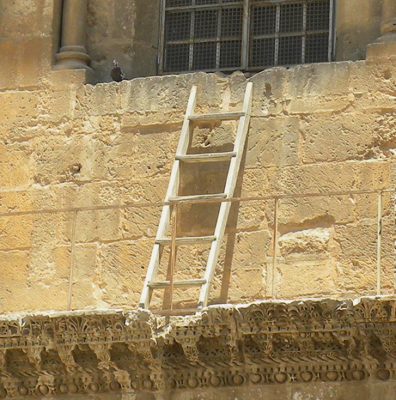 20200103-象徵「維持現狀的梯子」,攝於2011年。(作者提供,取自Wilson44691)