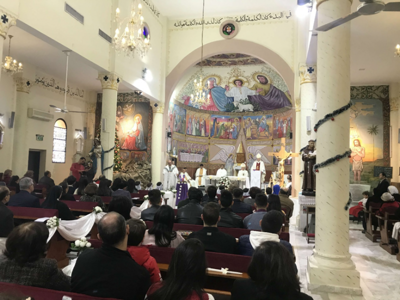 20200103-在加薩過聖誕節的基督徒。(作者提供,取自MEE)