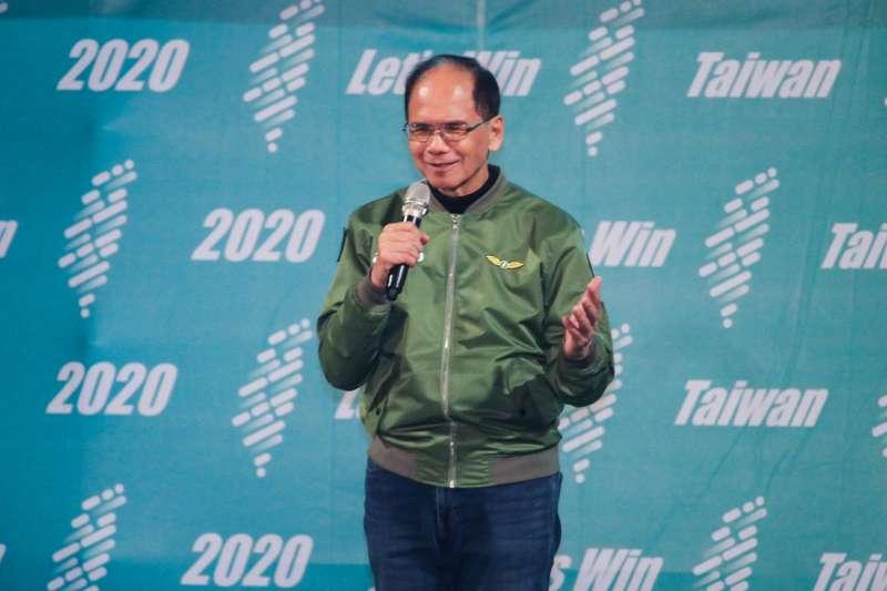 20200105-前行政院長游錫堃出席民進黨總統與立委候選人新莊造勢晚會。(蔡親傑攝)