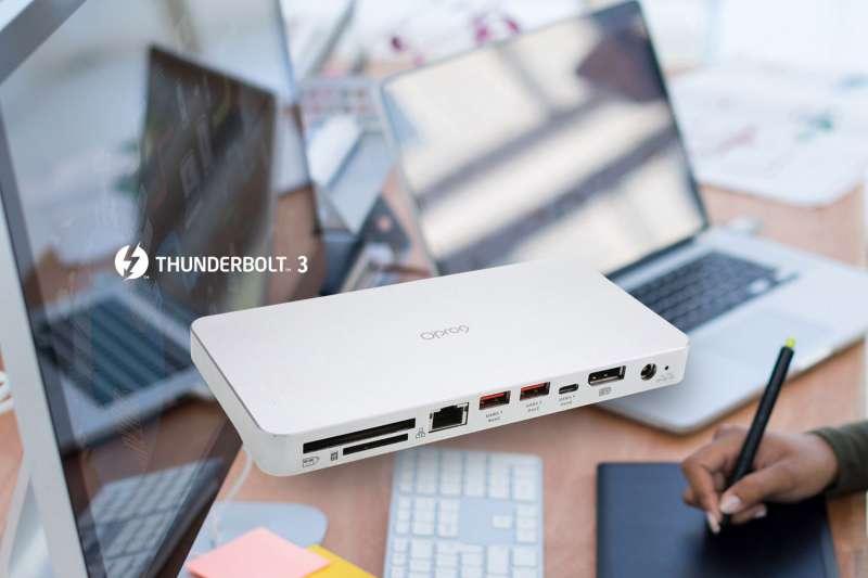 Opro9 Thunderbolt™ 3多功能轉接器整合所有外接設備,使用上更便利輕鬆。(圖/Opro9)