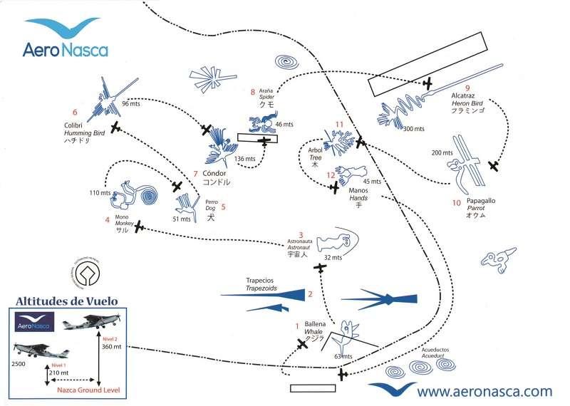 參照飛行地圖,幾乎能看到每個納斯卡圖騰。(圖/玉山社)