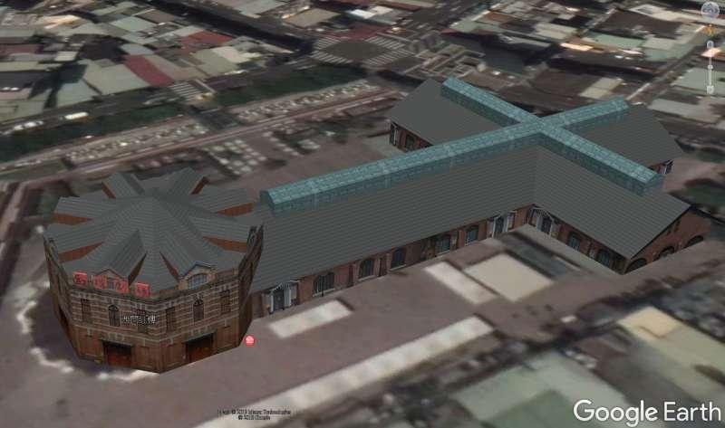 圖1:西門紅樓的3D立體圖示(圖/黃正安)