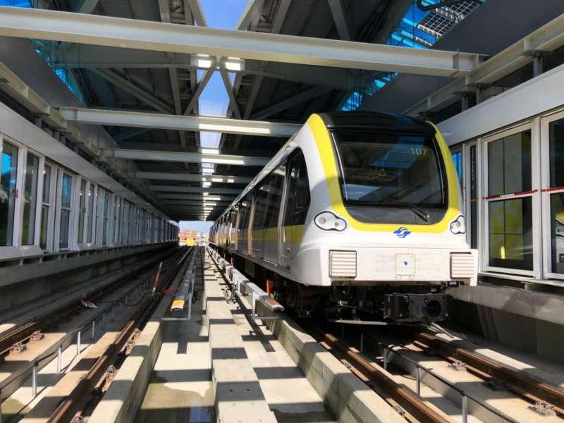 新北環狀線昨(5)日由經交通部完成履勘作業,履勘小組共提出須改善事項計有21項。(圖/新北捷運局提供)