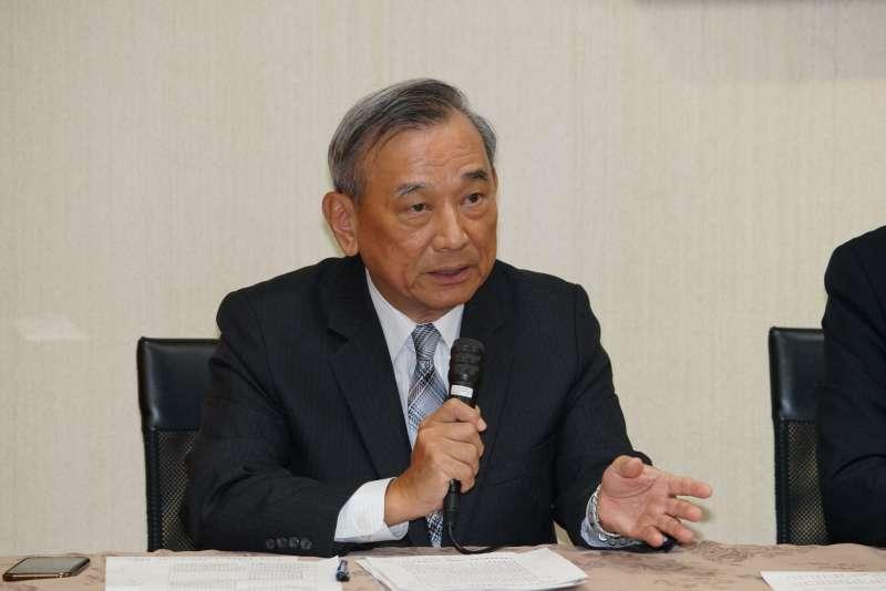 20200108-法務部次長陳明堂8日出席聯合記者會,說明反滲透法相關議題。(盧逸峰攝)
