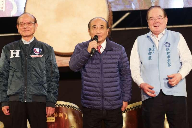 20200110-前立法院長王金平10日出席國民黨新北團結選前之夜。(簡必丞攝)