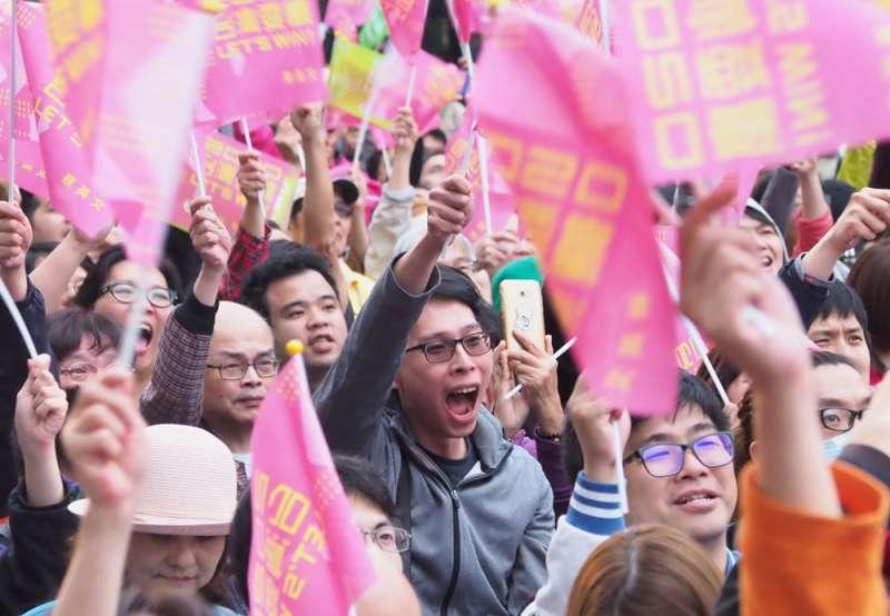 台灣總統選舉的結果,反映大多數選民對中國威權主義的憂慮。(林瑞慶攝)