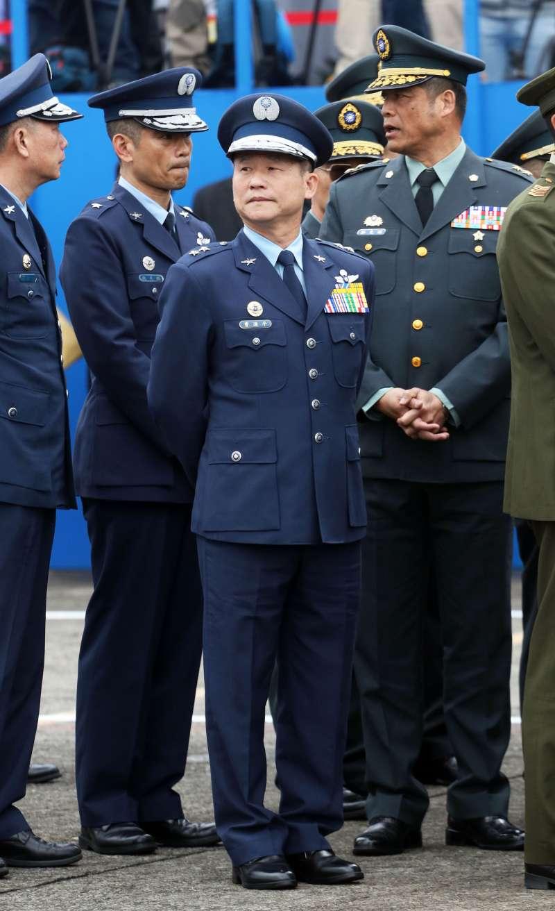 20200114-國防部在14日上午於空軍松指部舉行聯合公奠典禮,在黑鷹失事事件中生還的曹進平中將也出席。(蘇仲泓攝)
