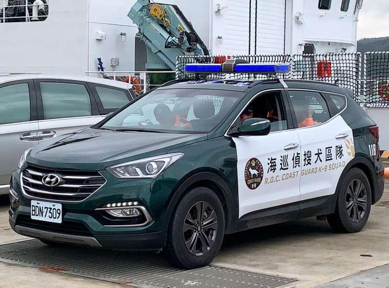 20200115-海巡署去年成立海巡偵搜犬區隊,重點期間將投入港口安檢勤務,為偵緝及防疫工作注入新能量。(海巡署提供)