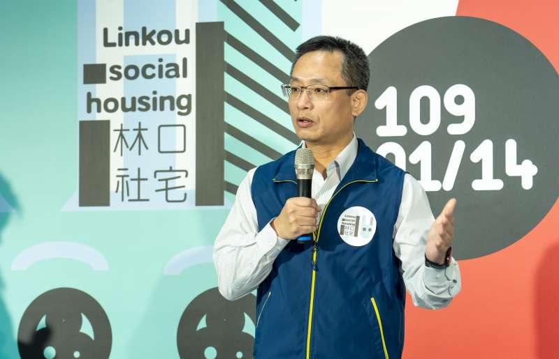國家駐督中心執行長張溫德說,林口社宅是台灣目前最大規模的社會住宅。(圖/國家住都中心提供)