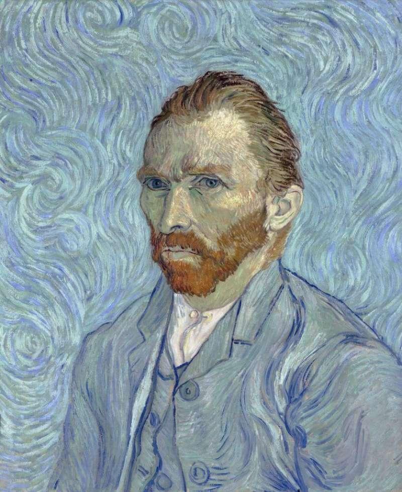 1889 年9月,梵谷畫了他最後一幅自畫像。(圖/維基百科)