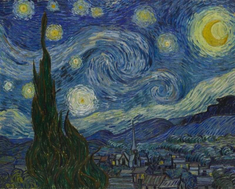 梵谷《星夜》(1889)。(圖/維基百科)