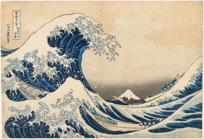葛飾北齋《神奈川沖浪裡》。(圖/維基百科)