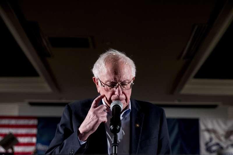 美國民主黨2020總統參選人、佛蒙特州聯邦參議員桑德斯(AP)